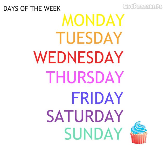 dni tygodnia wymowa po angielsku
