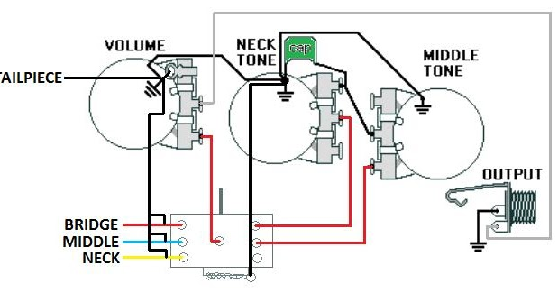 Washburn Mercury Original Wiring Diagram