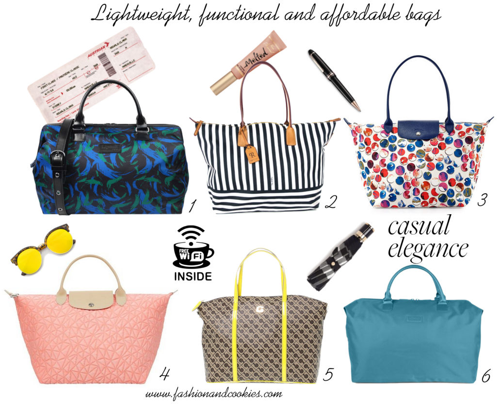 Guide to the best lightweight, cheap and functional bags, daytime tote bags on Fashion and Cookies fashion blog, fashion blogger style