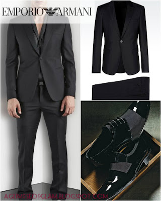 aglimpseofglam Emporio Armani suit and shoes Andrea Tiffany