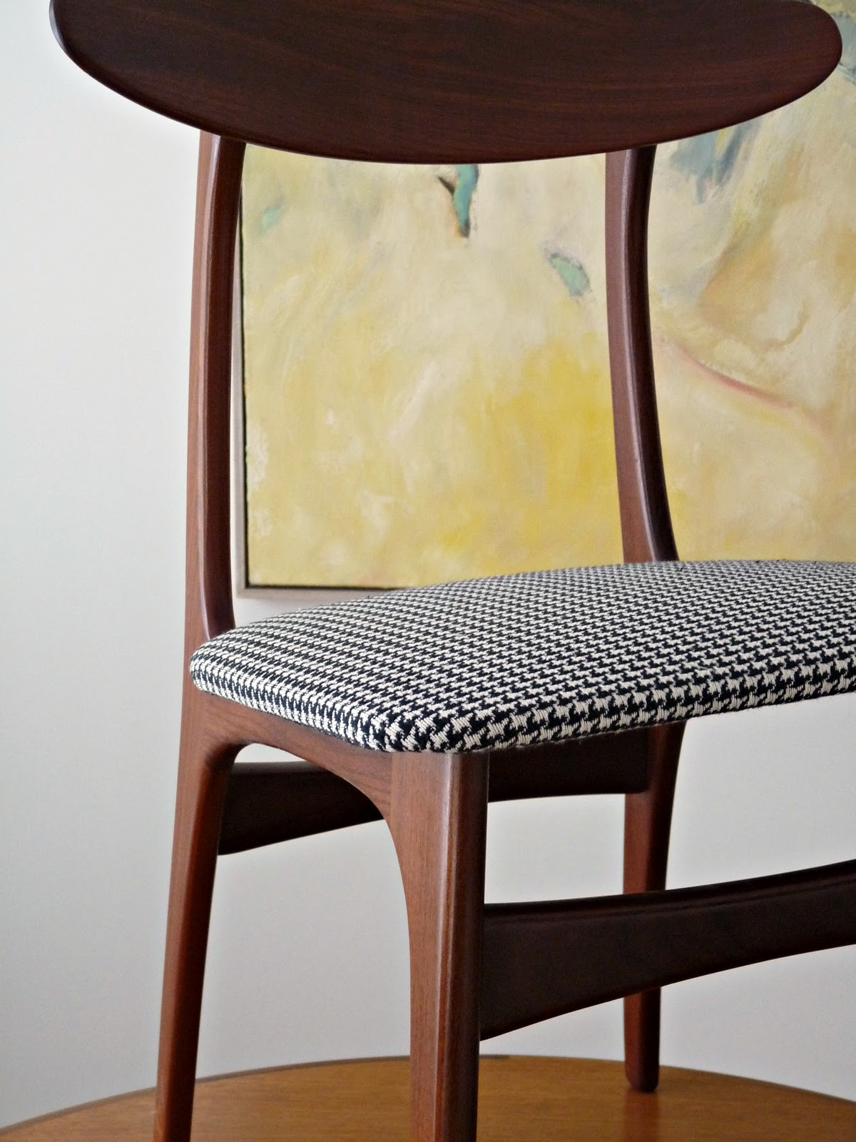 Reupholster Dining Chairs Children S Reclining Leather Chair How To Diy Houndstooth