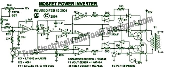 free schematic diagram 1000w power inverter circuit. Black Bedroom Furniture Sets. Home Design Ideas