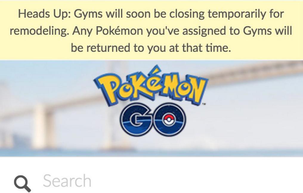 Gimnasios deshabilitados y primera supuesta información sobre los nuevos en Pokémon GO