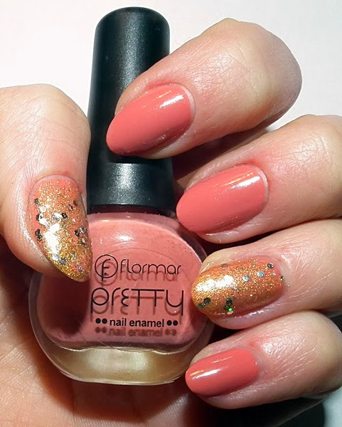 nails, pink and gold, Flormar, Flormar pretty P15, Kiss Gradient, alina rose, maxineczka, katosu, ooleska, kasia tusk, wizaz