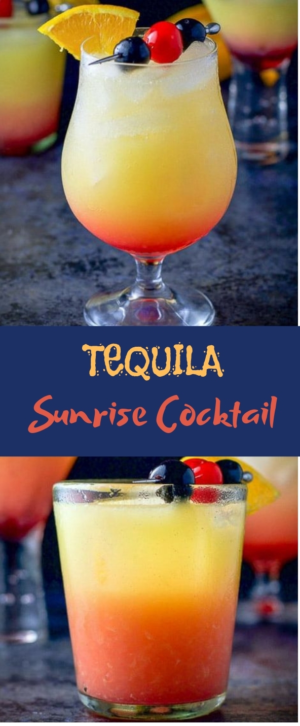 Tequila Sunrise Cocktail #freshdrink #cocktails
