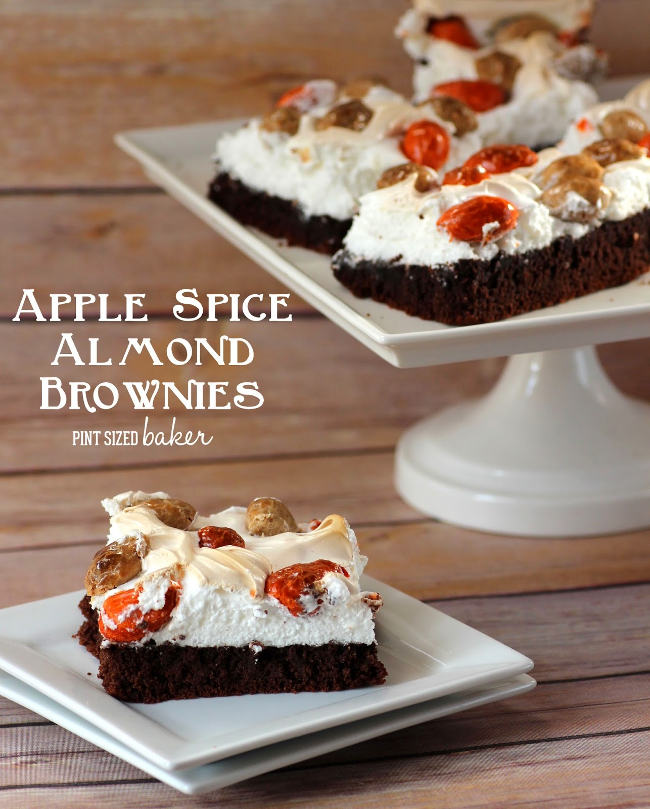 Enjoy the flavor of fall with Apple Spice Almond Brownies. Perfect for a crowd.