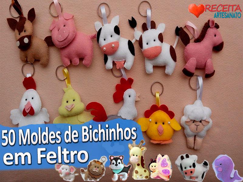 50 Molde De Bichinhos Em Feltro Download Pdf Artesanato Passo