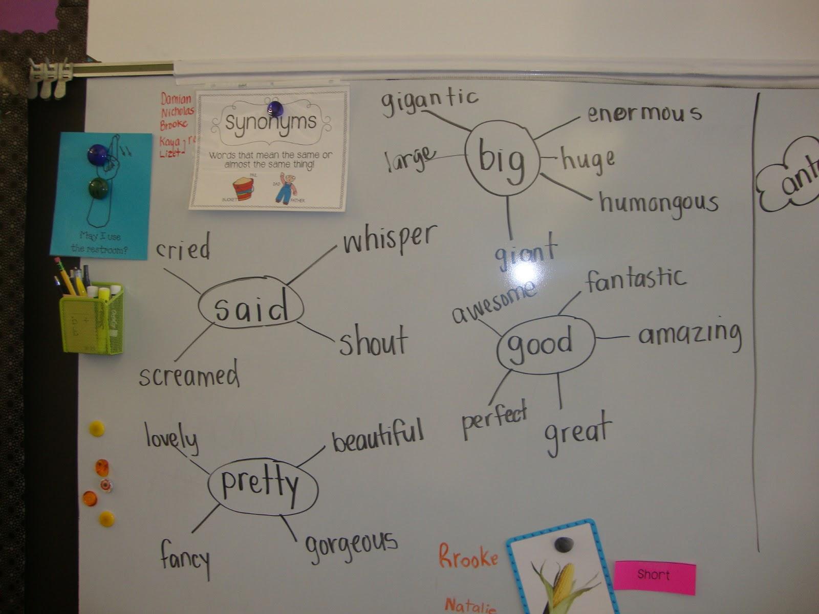 Today In First Grade: Synonyms and Antonyms!