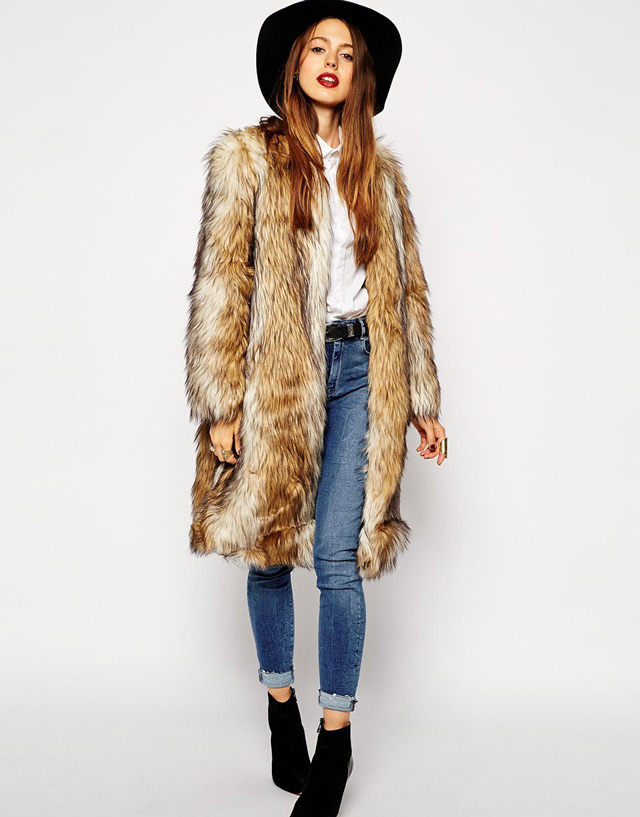 Faux fur coat, budna od umjetnog krzna by People & Styles