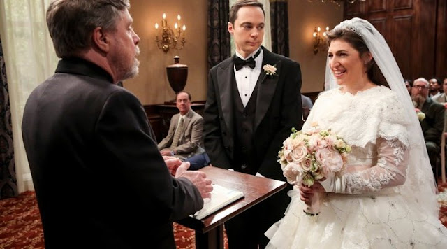 Big Bang Theory boda Sheldon y Amy