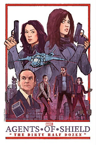 "Agents of SHIELD The Art of Evolution Print #9 - ""The Dirty Half Dozen"" by Jacob Wyatt"