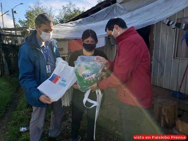 Entregan kits de limpieza a 700 familias de campamentos en Osorno