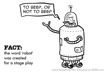 Where does the word robot come from?