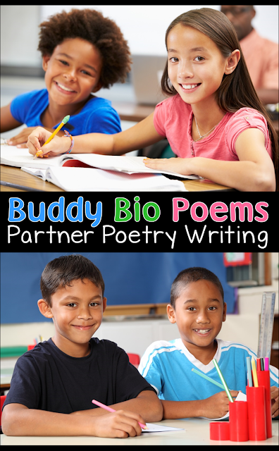 Buddy Bio Poems is a terrific activity that's a content-based writing lesson AND a fun icebreaker!