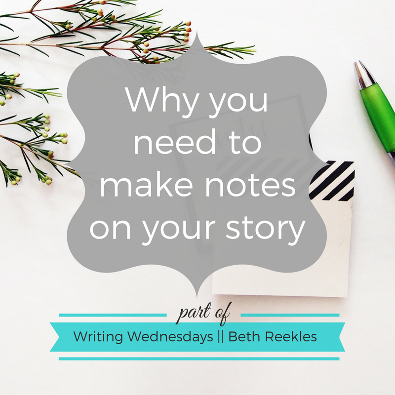 It's important to keep notes when you start a new story - but why? And what do you make notes of? I try to help answer those questions in this post.