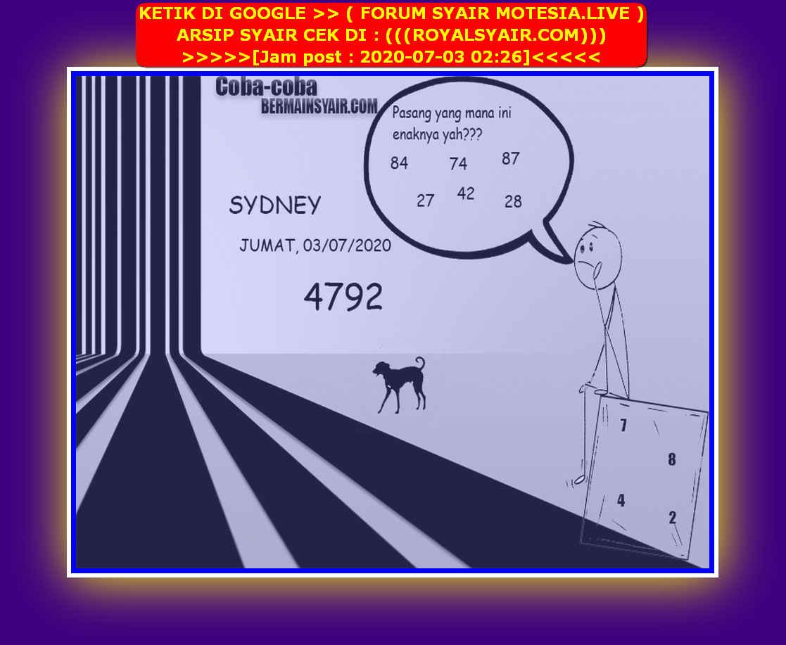 Kode syair Sydney Jumat 3 Juli 2020 239