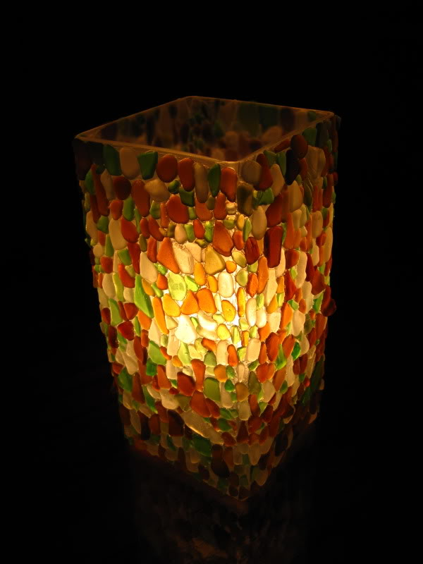 Light The Way - Glass Mosaic Lanterns ~ Mosaic Tiles Magic