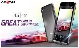 Harga & Spesifikasi Advan i45 - Smartphone 4G LTE Murah