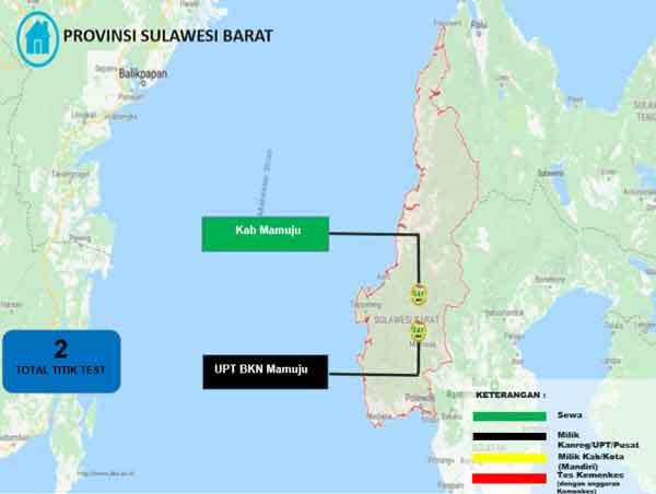Lokasi Tes Cat BKN Propinsi Sulawesi Barat