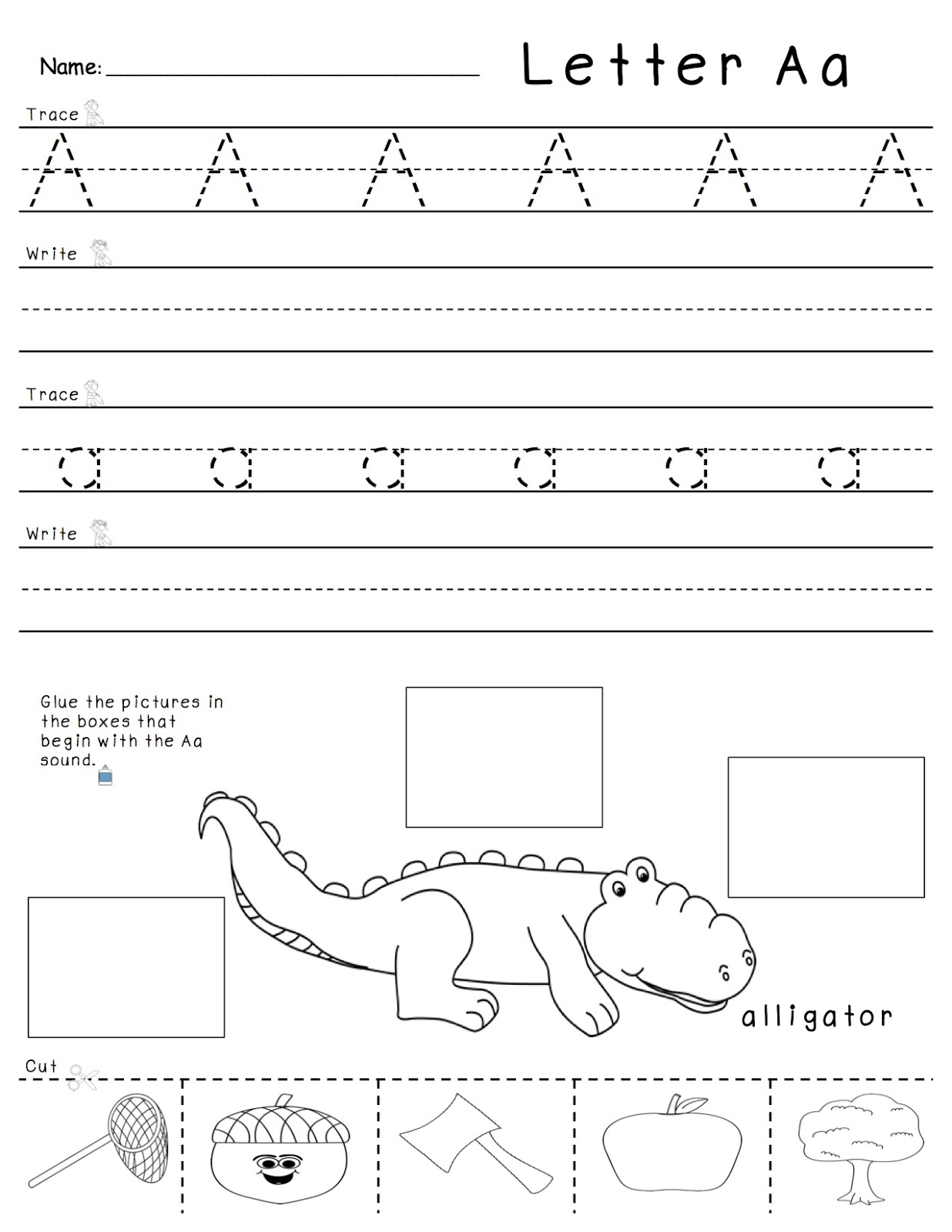 A Spoonful Of Learning Letter And Letter Sounds Practice