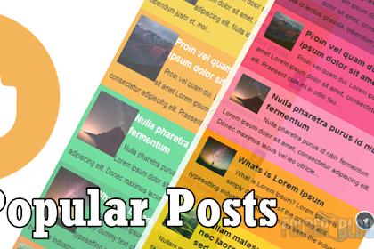 Cara membuat Widget Popular Post berwarna pada Blogspot