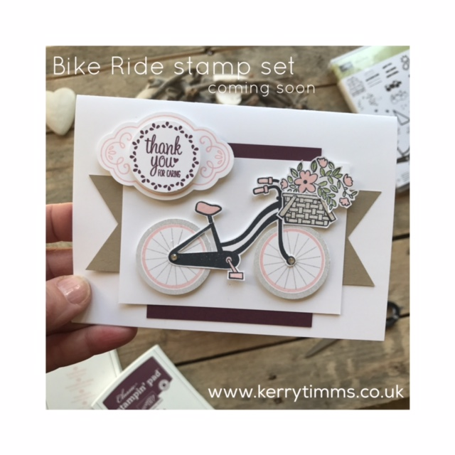 kerry timms cardmaking class scrapbooking gloucester gloucestershire hobby craft creative bike ride summer basket flowers dog female invitations party handmade card