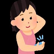 制汗剤を使う人のイラスト