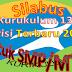 Silabus SMP/MTs Kurikulum 13 Terbaru 2016