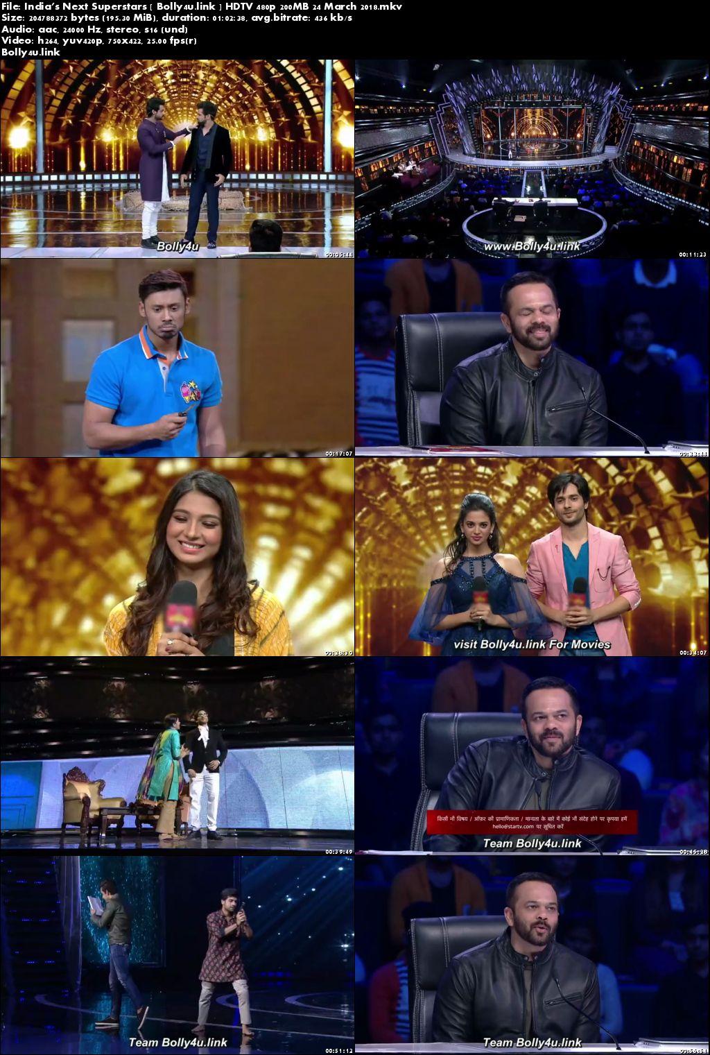 Indias Next Superstars HDTV 480p 200MB 24 March 2018 Download