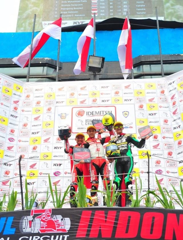 Tersisa 1 Seri, Rheza Danica Amankan Gelar Juara Asia ARRC AP250 di Seri 5 Sentul