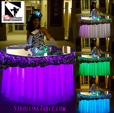 led strolling table