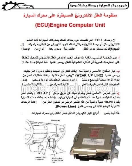 تحميل كتاب كمبيوتر السيارة Ecu والحساسات Pdf Mechaniclub ميكانيك