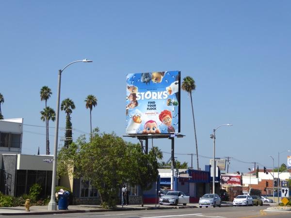 Storks movie billboard