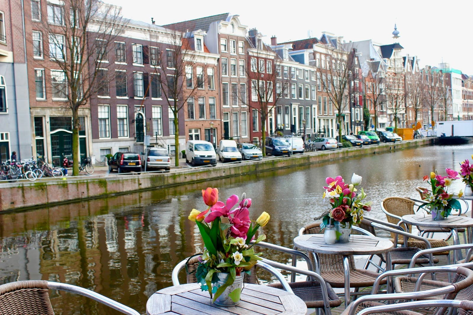 Cafe at Canals of Amsterdam