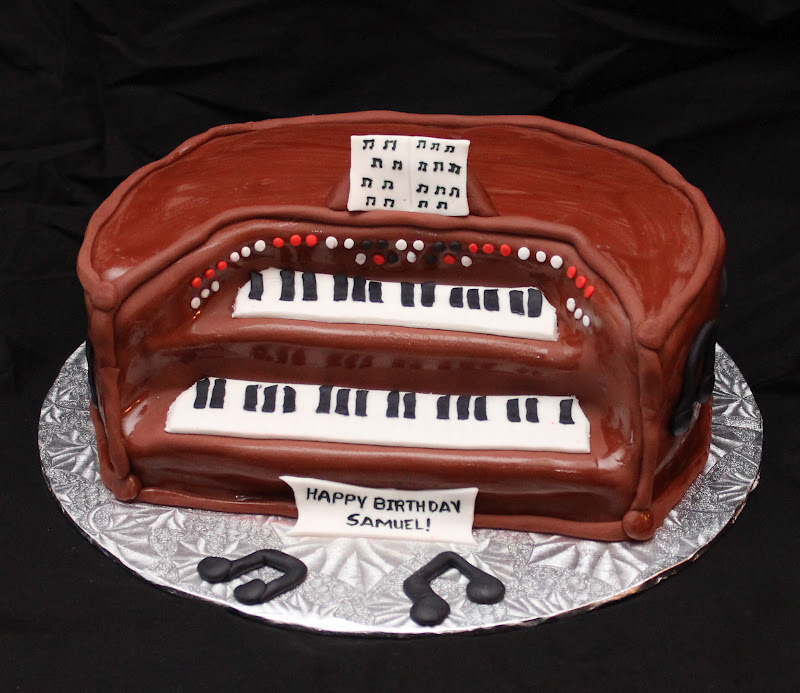 Love Dem Goodies Organ Piano Cake