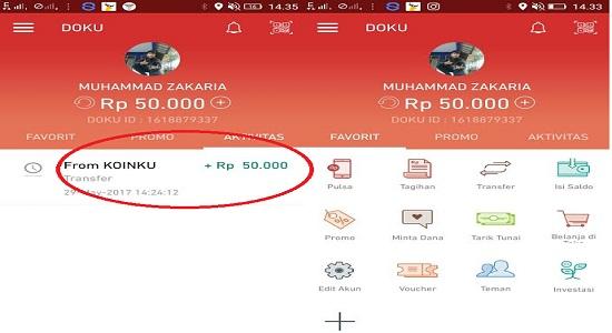 Bukti pembayaran saldo gratis DOku terbaru mei 2017