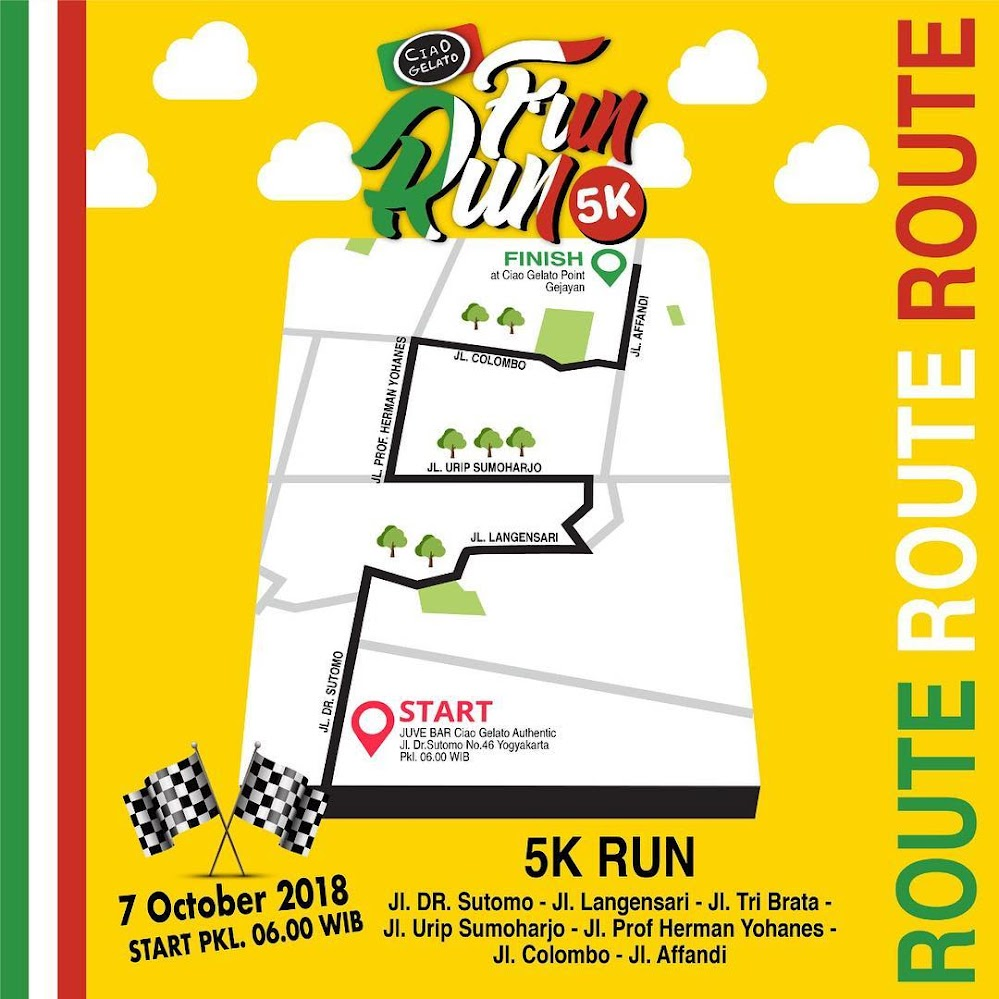 Route Ciao Gelato Fun Run • 2018
