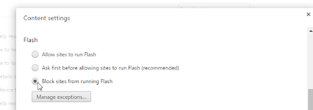 block flash player