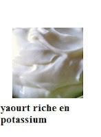 yaourt bon source de potassium pour la santé sexuelle