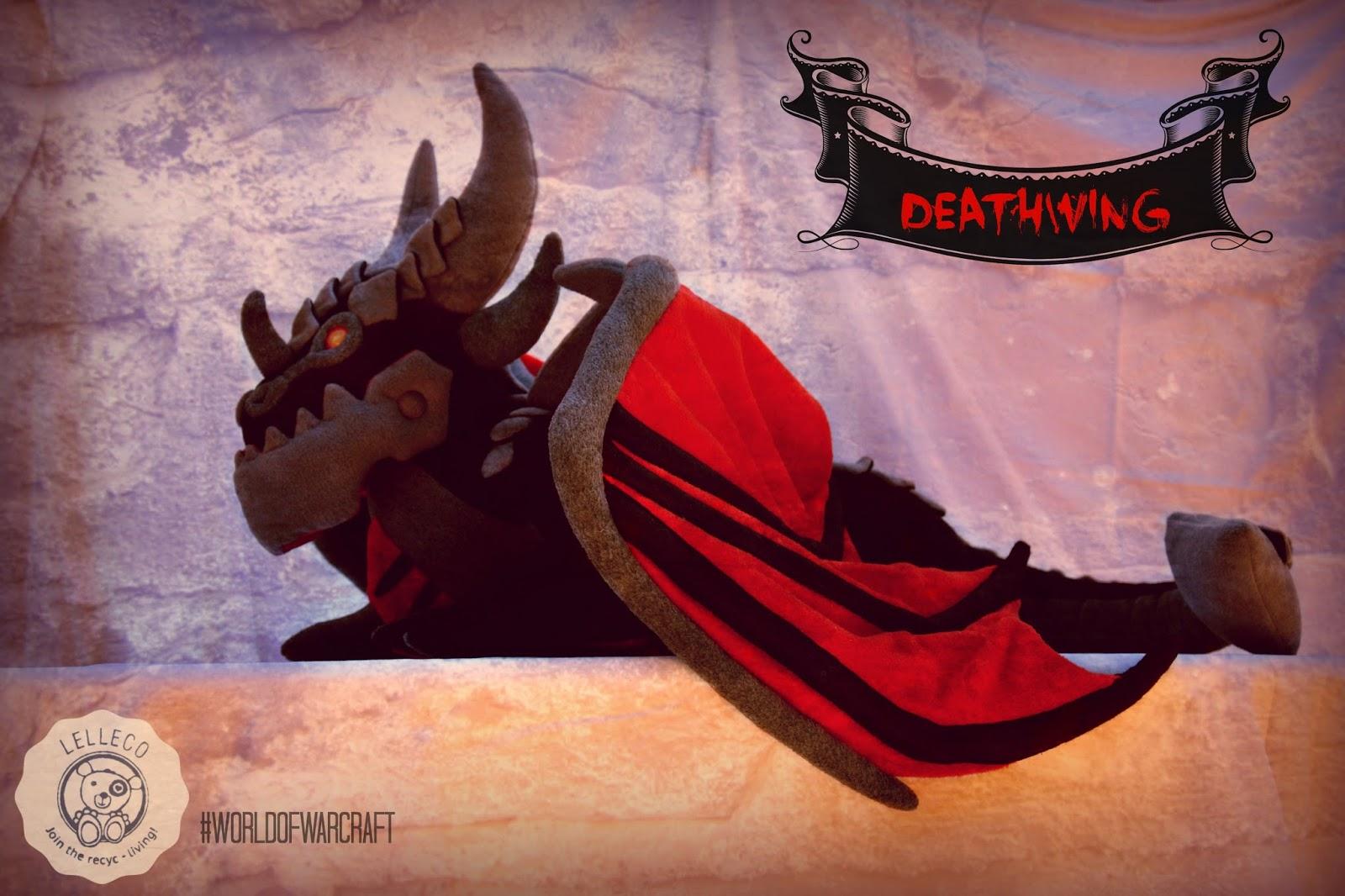 Peluche hecho por encargo Deathwing, el dragón de World of Warcraft