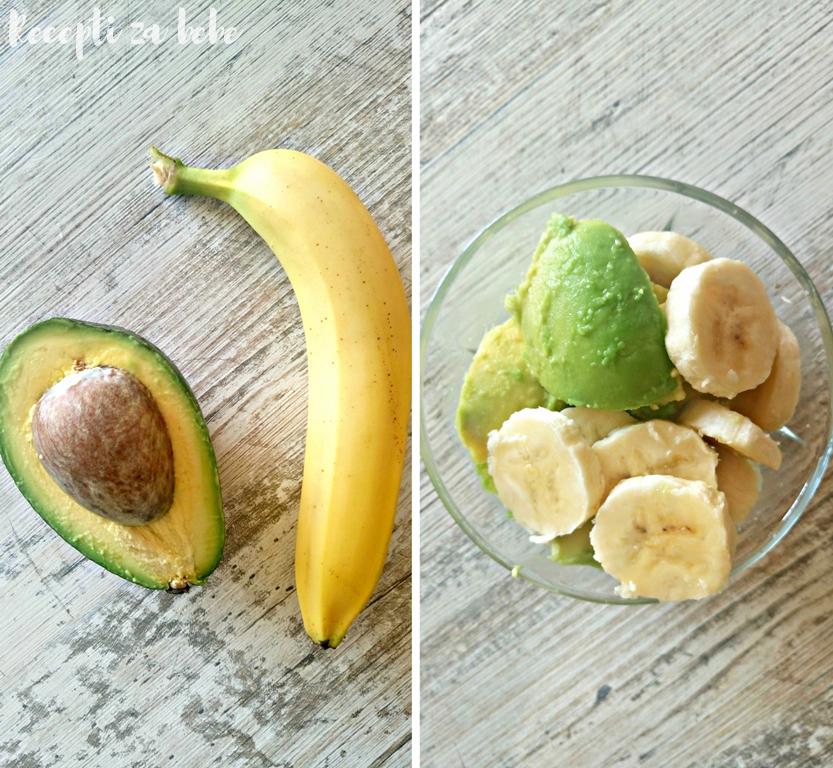 avokado i banana za bebu