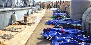 μετανάστες ανασύρθηκαν νεκροί