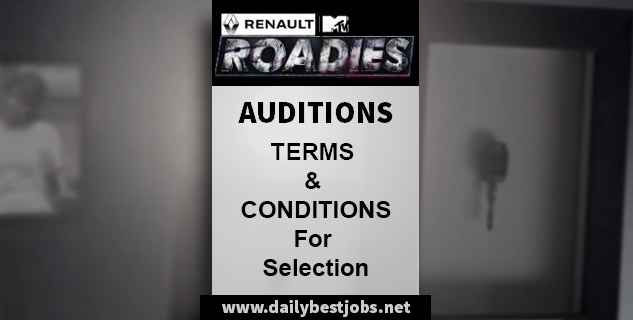 Terms & Conditions For Roadies, TNC's For Roadies Xtreme