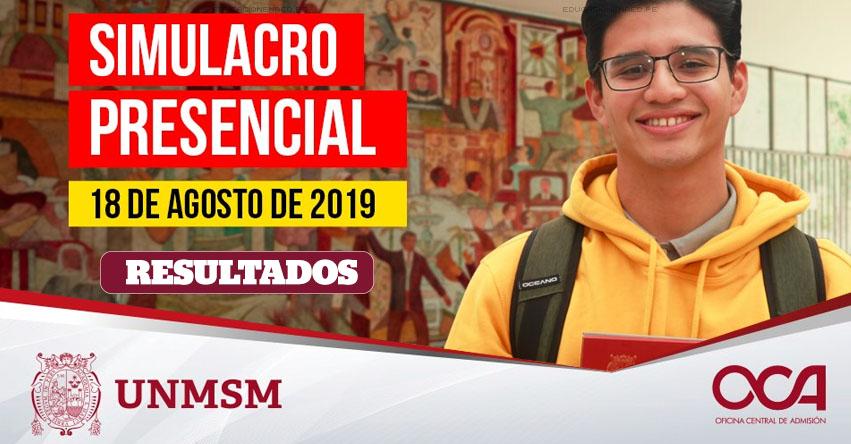 UNMSM: Resultados Simulacro 2019-2 (Domingo 18 Agosto) Lista de Aprobados - Simulacro Presencial Descentralizado de Examen de Admisión - Universidad Nacional Mayor de San Marcos - www.unmsm.edu.pe