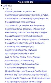 Cara Memunculkan Widget Arsip Blogger