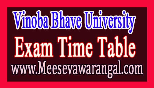 Vinoba Bhave University BDS Final Year Prof Part-2 Exam Time Table