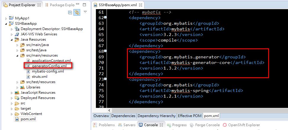 Java碼農清單: [maven 5] MyBatis自動產生程式碼, 並整合Spring