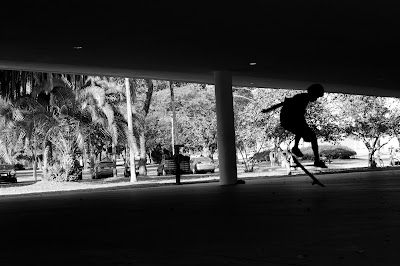 Skatista no Parque Ibirapuera, em São Paulo