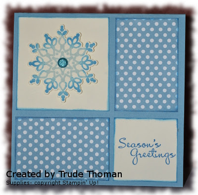 Stamp with Trude, Mojo Monday, Festive Flurry, More Merry Messages, Stampin' Up!, Christmas card
