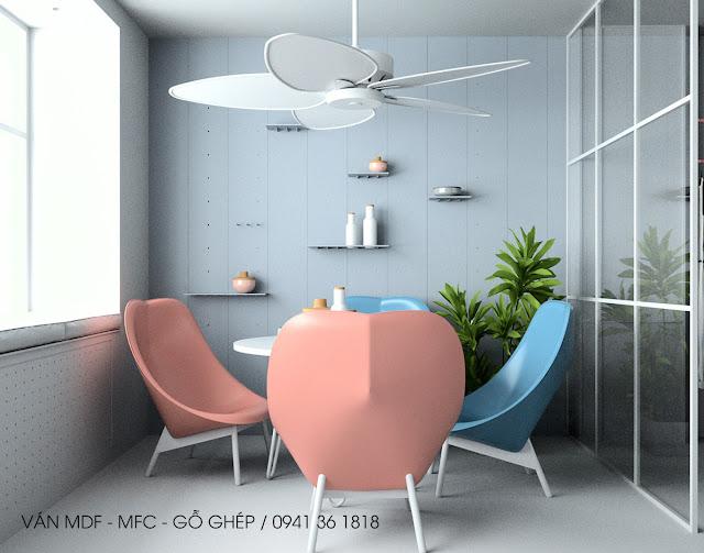 mẫu căn hộ thiết kế phong cách mùa hè